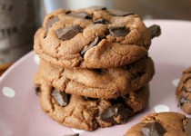 Диетическое шоколадное печенье c миндалем без масла