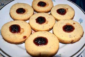 Рассыпчатое печенье с джемом