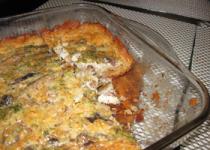 Рыбный пирог с консервами