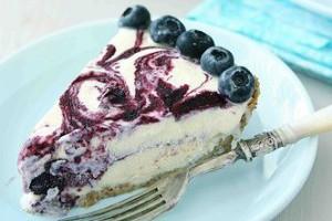 Черничный торт-мороженое